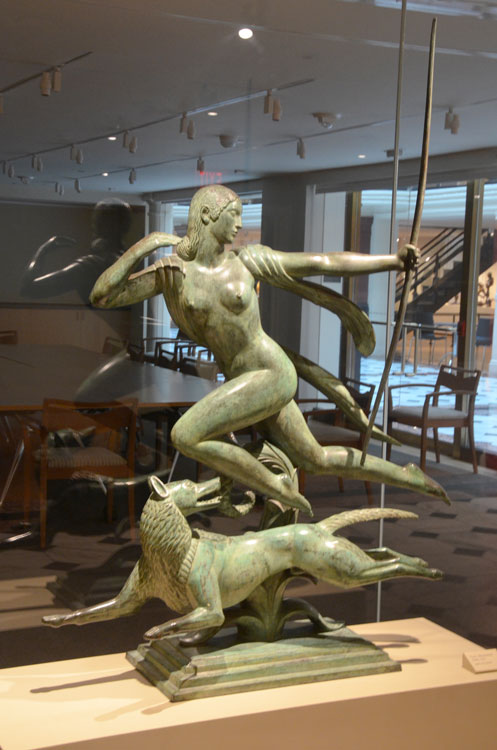 Diana the huntress, in this life-size bronze by Robert Manship (1925) entranced your faithful scribe.