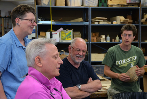 Everyone enjoyed the visit, and the chance to show our work to these distinguished guests.