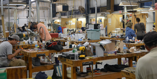 Some of them are still at work at 9 pm on Friday evening, including your intrepid reporter. The woodworking studio combines machines and benches in one large space, now totally cluttered with Echo Lake projects and tool set-ups.