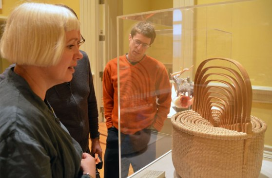 Gaynor - a fiber artist and woodworker - was most impressed by this nest of fifteen traditional baskets.
