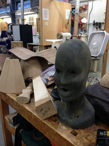 Your reporter, John Kelsey, grabbed this carved head from the treasure trove of junk and dove into the project.
