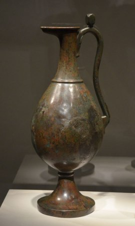 Bronze ewer from ancient Persia. What a fine shape!