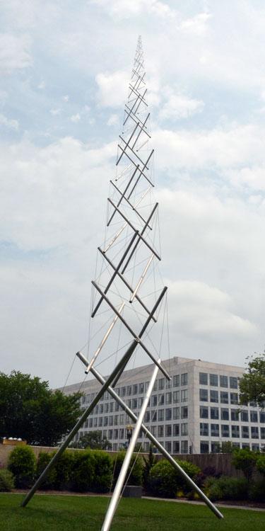 Snelson, tensegrity mast