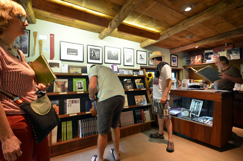 Like all good modern museums, one exists through the gift shop, where one can purchase books about Wharton Esherick, and prints by him.