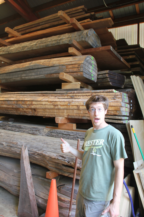 But hey! Enough already with the aesthetics! Ben discovers the Nakashima timber store, surely one of the most impressive assemblies of ready-to go-timber you could see anywhere...burls and crotches abound...