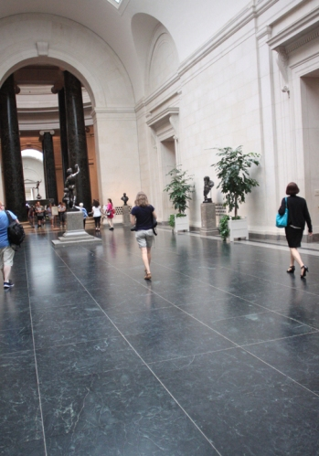 Adrien spotted walking the hallowed halls of the National Gallery.