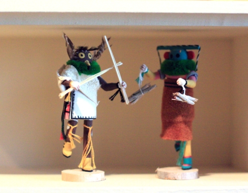 One of my favorites - Kachina dolls from the southwest.