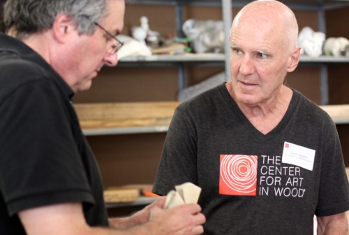 Grant Vaughan discusses his work with wood artist Mark Sfirri.